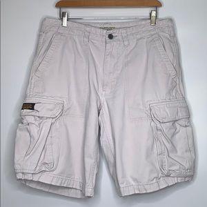 POLO JEANS RALPH LAUREN • Tan Chino Cargo Shorts
